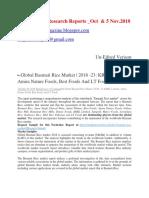 Rice Makret Report _Research & Estimation Scope Studies Oct-5 Nov 2018