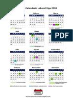 Vigo Calendario Laboral 2018