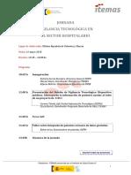 Jornadas Vigilancia Tecnologica en el Sector Hospitalario