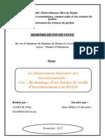 Le Financement Bancaire Des Investissements