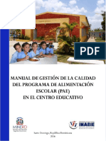 Manual de Gestion de Calidad Del PAE Para El CE en CD 2018-2019