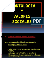 Deontología y Valores Sociales