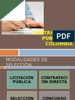 Modalidad de seleccion Contratacion Estatal Colombia