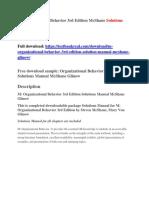 M Organizational Behavior 3rd Edition McShane Solutions Manual