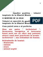 #Gandire Pozitiva-Tehnici Inspirate de La Sfintul Munte(L)
