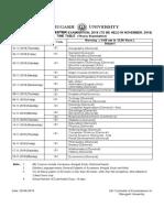 1st Sem Programme
