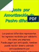 AJUESTES POR AMORTIZACIÓN DE PASIVOS DIFERIDOS
