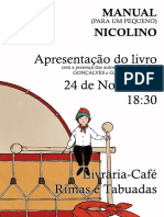 Cartaz Manual do pequeno nicolino