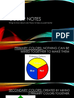 color theory notes for painting
