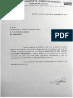 Jujuy | Modificacion Código Electoral provincial. Pts Fit