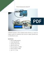 Wireless Communication Arduino RF