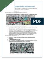 Informe de Planificaciòn de Obra