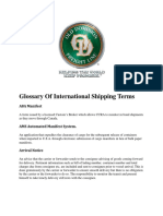 International Shipping Terms