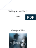 Week 10 Lecture Slides - Writing About Film II