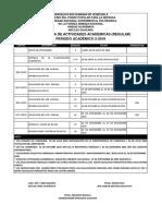 Cronograma de Actividades Academicas 2-2018 Pregrado
