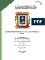 RCM - Mantenimiento Centrado en Fiabilidad/Confiabilidad