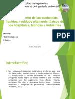 tratamiento de liquidos, residuos toxicos, de hospitales, industrias y fabricas 1.pptx