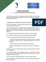 e. Lineamientos Para La Presentación de Proyecto Tecnológico - 2014
