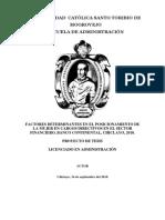 Rp Factores Determinantes en El Posicionamiento de La Mujer en Cargos Directivos en El Sector Financiero