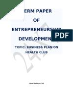Entrepreneur Term Paper