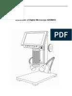 Manual Microscopio ADSM302 Inglés