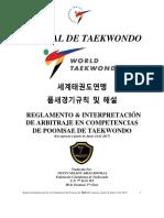 REGLAMENTO & INTERPRETACIÓN DE ARBITRAJE EN COMPETENCIAS DE POOMSAE DE TAEKWONDO