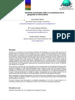 Aplicación de La Realidad Aumentada  (AR)  a La Enseñanza de La Geografía en Secundaria.