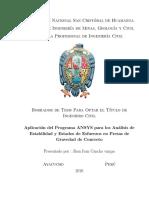 Aplicación del Programa ANSYS para los Análisis de Estabilidad y Estados de Esfuerzos en Presas de Gravedad de Concreto.pdf