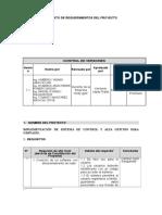 Requerimientos De Proyecto plantilla