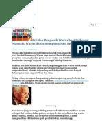Arti Dan Pengaruh Warna Bagi Psikologi