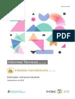 Informe de actividad industrial de septiembre de 2018