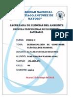 Informe I de FISICA II