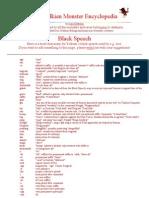 JRR Tolkien - Black Speech