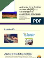 Aplicación de La Realidad Aumentada (AR). PPT. XII Congreso de Didáctica de La Geografía. (AGE) Madrid 2018