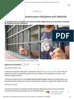 Ley Sobre Pena de Muerte Para Violadores Será Debatido en Marzo _ Diario Correo
