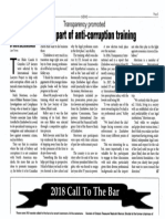 Lawyers Part of Anti-Corruption Training - Law Times (Oct. 15, 2018)