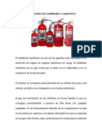 Extintor Anhídrido Carbónico y de Presión Auxiliar