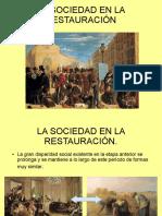 La Sociedad en La Restauración