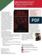 Evil Archaeology Press Sheet