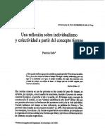 Safa, P. Una Reflexioìn Sobre Individualismo y Colectividad a Partir Del Concepto Tiempo.