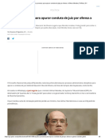 CNJ Abre Processo Para Apurar Conduta de Juiz Por Ofensa a Gilmar Mendes _ Política _ G1