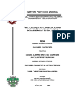 Tesis IPN - Factores que afectan la calidad de la energia y su solucion.pdf