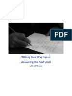 Writing Your Way Home Workbook by Jeff Brown