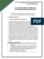 COMPORTAMIENTO TÉRMICO EN MEZCLAS DE CAUCHO NATURAL MEDIANTE DSC