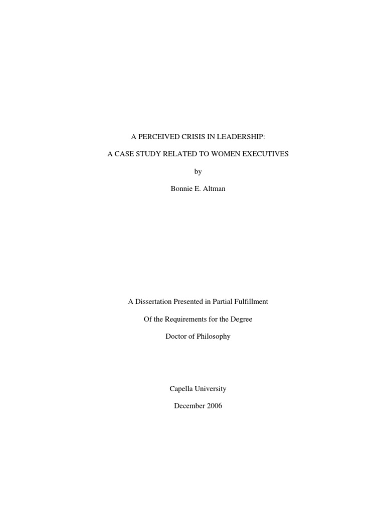 Dissertation on leadership succession