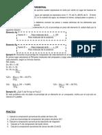 Concentacion % y Formula Química