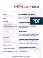 Economic and Political Weekly Vol. 47, No. 18, MAY 5, 2012