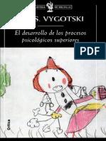 Vygotsky El Desarrollo de Los Procesos Psicologicos Superiores