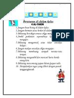 Peraturan Kelas 4 Al-yakin