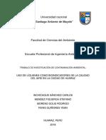 Uso de Líquenes Como Bioindicadores de La Calidad Del Aire en La Ciudad de Huaraz